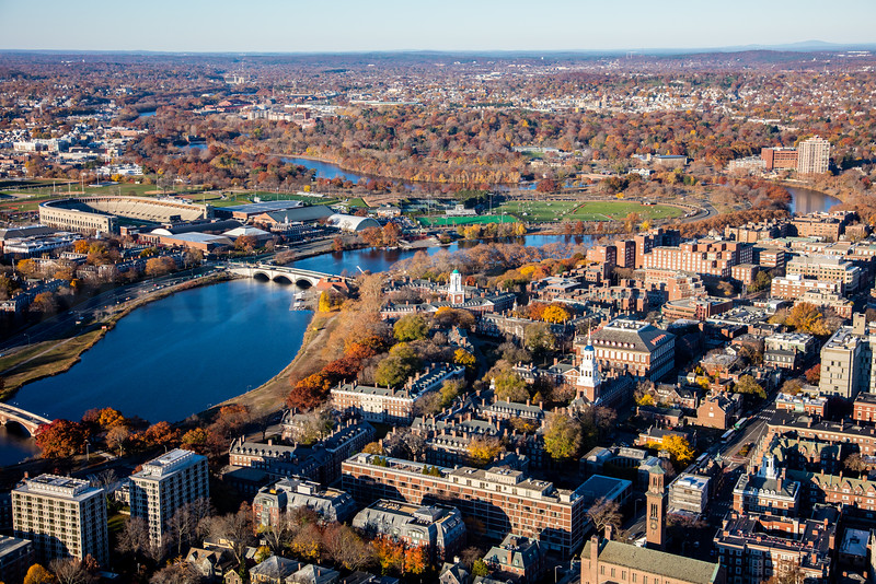 MIP AERIAL HARVARD UNIVERSITY CAMBRIDGE MA-7399-L